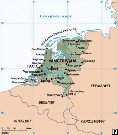 Амстердам находится где